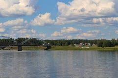 Letni dzień w Gäddvik w LuleÃ¥ Obraz Stock