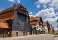Letni dzień w Niemieckim miasteczku Freudenstadt Czarny ForestGermany Zdjęcia Royalty Free