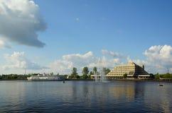 Letni dzień w Vyborg Obrazy Stock