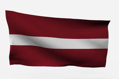 letonia флага 3d Стоковое фото RF