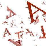 Letra A Foto de archivo libre de regalías