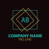 Letra AB Logo Design Imagem de Stock Royalty Free