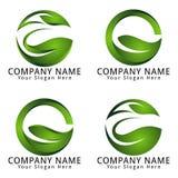 Letra abstracta G Digital moderna Logo Go Green Concept Imagen de archivo libre de regalías