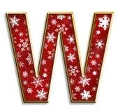 Letra aislada W de la Navidad en rojo Foto de archivo