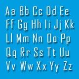 Letra ajustada da fonte 3d Fotografia de Stock