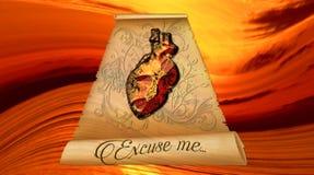 Letra al creador - corazón de piedra - endurecido, lleno de grava, aterrorizado libre illustration