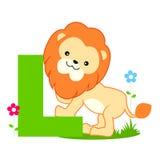 Letra animal do alfabeto - L Foto de Stock Royalty Free