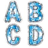 Letra A B C D de la gema stock de ilustración