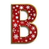 Letra B de la Navidad en rojo Imagenes de archivo