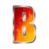 Letra B do alfabeto das flamas Imagens de Stock