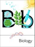 A letra B do cartão flash é para a biologia Fotos de Stock Royalty Free