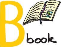 Letra B - livro ilustração stock