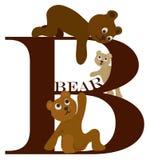 letra B (oso) Fotos de archivo