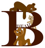 letra B (urso) Ilustração Stock