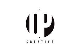 Letra blanca DE OP. SYS. Logo Design de O P con el fondo del círculo Imágenes de archivo libres de regalías
