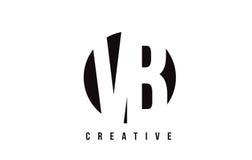 Letra blanca Logo Design de VB V B con el fondo del círculo Imagenes de archivo