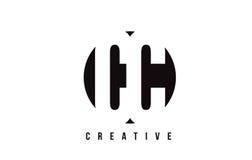 Letra blanca Logo Design del cc C C con el fondo del círculo Foto de archivo