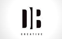 Letra blanca Logo Design del DB D B con la casilla negra Imagen de archivo libre de regalías
