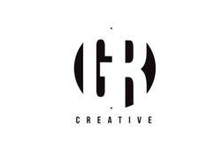 Letra branca Logo Design da GR G R com fundo do círculo Foto de Stock