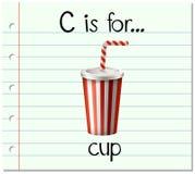 A letra C de Flashcard é para o copo ilustração royalty free