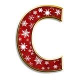 Letra C de la Navidad en rojo Foto de archivo