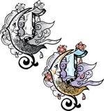 Letra C do estilo do tatuagem Imagem de Stock