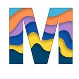 Letra colorida M ilustração do vetor