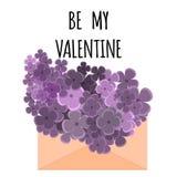 Letra com flor Foto de Stock Royalty Free