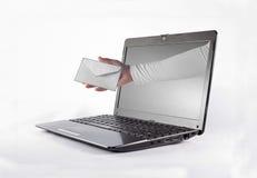 Letra com PC Fotos de Stock