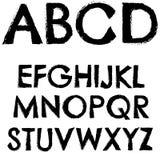 Letra completa do alfabeto da fonte do Grunge Fotografia de Stock Royalty Free