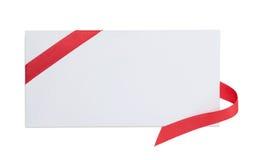 Letra con la cinta roja Fotografía de archivo