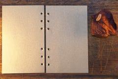 Letra con la flor secada Foto de archivo libre de regalías