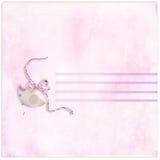 Letra cor-de-rosa em branco Imagem de Stock Royalty Free
