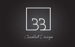 Letra cuadrada Logo Design del marco del BB con colores blancos y negros Imagen de archivo libre de regalías