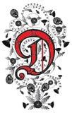 Letra D ilustração stock