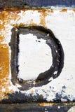 Letra D imagens de stock