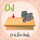 Letra D ilustración del vector