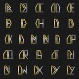 Letra D con alfabeto Fotos de archivo libres de regalías