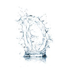 Letra D del alfabeto del agua imagenes de archivo