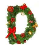 Letra D do alfabeto do Natal Fotos de Stock Royalty Free