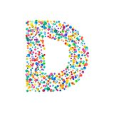 Letra d llenada de confeti denso de la acuarela libre illustration