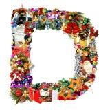 Letra D, para la decoración de la Navidad ilustración del vector