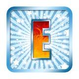 Letra da celebração do alfabeto - E Imagens de Stock Royalty Free