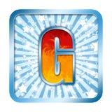 Letra da celebração do alfabeto - G Fotos de Stock Royalty Free