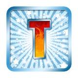 Letra da celebração do alfabeto - T Fotografia de Stock Royalty Free