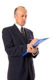 Letra da escrita do homem de negócios Imagem de Stock