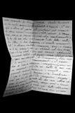 Letra da guerra Foto de Stock Royalty Free