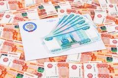 Letra da observação de pagamento do imposto com logotipo do serviço o do imposto federal Imagem de Stock