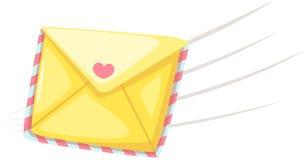 Letra de amor ilustração stock