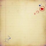 Letra de amor Imagenes de archivo